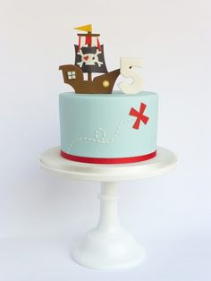 Pirate Ship Birthday Cake by Peaceofcake