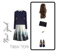 """New York, New York"" by missa-watson on Polyvore featuring Chicwish, Oasis, Christian Louboutin, Chanel and Halcyon Days"