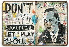 Oliver Towne | Jazz Legends | #sketchooks #illustrations