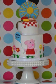 blue cupcake: Peppa Pig Cake and Cupcakes