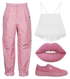 Designer Clothes, Shoes & Bags for Women Bottega Veneta, Lime Crime, Parachute Pants, Blush, Polyvore, Stuff To Buy, Shopping, Collection, Design