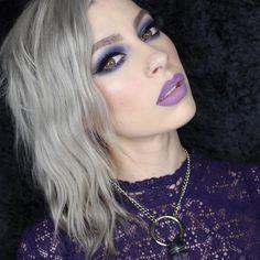 Used kat von d beauty Danzig + Mi Vida Loca palette with Requiem + Ayesha on the lips.