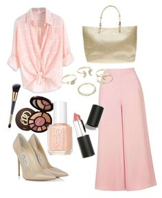 """""""Summer blush"""" by vakacegu ❤ liked on Polyvore featuring tarte, Jimmy Choo, Dorothy Perkins, Topshop, Lipsy, Essie and Sigma Beauty"""