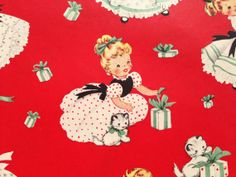 Vintage Christmas Gift Wrapping Paper  by TheGOOSEandTheHOUND, $4.00