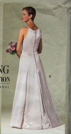 Vogue 2118 Vera Bridal Collection Pattern Wedding Gown Sewing Sizes 6 8 10 Uncut