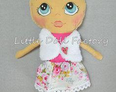 READY TO SHIP** Dress up doll, Fabric doll, handmade doll, Cloth doll, Birthday gift, Rag doll