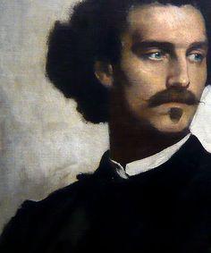 ♀ Painted Art Portraits ♀ Anselm Feuerbach | Self-portrait (detail)
