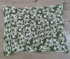 Tapete de croché (ponto alto duplo) #crochet #tapetedecroche