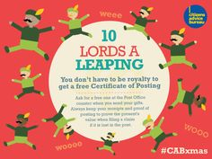 You don't have to be royalty to get a free Certificate of Posting #CABxmas