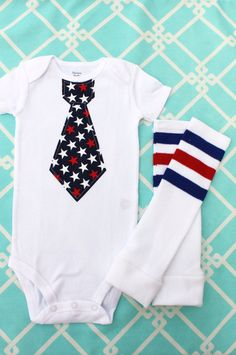 Baby Boy 4th of July Summer Patriotic by ChicCoutureBoutique, 26.95