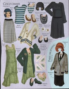 Downton Abbey Fashion Era -  A Coco Chanel Wardrobe.  http://glamourdaze.com/2014/02/1920s-fashion-animation.html