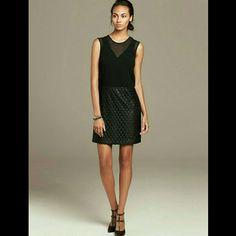Banana Republic Dress 2 Sheer Top Leather Lace