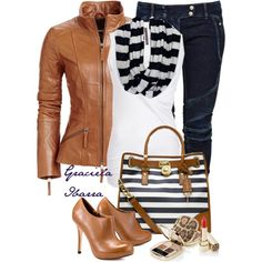"""Color Leather Jackets for the Fall"" by grachy on Polyvore"