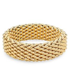 Another great find on #zulily! Yellow Gold Woven Link Stretch Bracelet #zulilyfinds