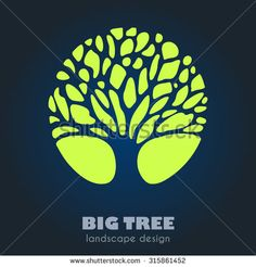 Abstract Tree Business sign vector template. Vector icon, corporate identity template for landscape design / architecture, real estate, natural organic product line labeling, recycle, garden. Editable