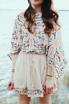 7b55e68979b Embroidered Shirt Dress With Contrast Trim