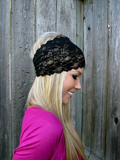 Such a cute idea! Blink Of An Eye, Lace Headbands, Make A Donation, Stretch Lace, Hair Band, Hair And Nails, Creative Ideas, Stretches, Creativity
