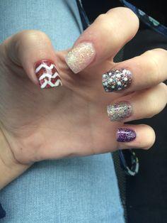 Beautiful gel nails for fall! Golden nail spa Jamestown, TN