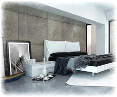 obrazy w ramie biało czarne nowoczesna sypialnia