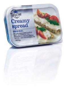 TofuLine Creamy Spread Original, min favotitt blant melkefrie smøreoster. Bruker denne som pålegg, i matlaging og på pizza. Kjøper denne på MaxiMat i Sverige.