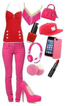 """""""VALENTINES DAY YASS!!! :-)"""" by jahyrahbaby ❤ liked on Polyvore featuring LTB by Little Big, Carvela Kurt Geiger, ABS by Allen Schwartz, Coach, OPI, Beats by Dr. Dre, Rimmel and Topshop"""