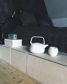 Boligcious bygger seng.... IGEN! Kids Room, Sweet Home, Loft, Bedroom, Storage, Inspiration, House, Furniture, Design
