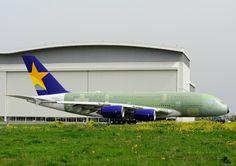 スカイマーク Airbus A380 JA380A トゥールーズ・ブラニャック空港 航空フォト   by じーく。さん 撮影2014年04月02日