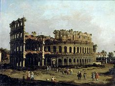 The Colosseum - Giovanni Antonio Canal Canaletto - Hand-Painted Art Reproduction
