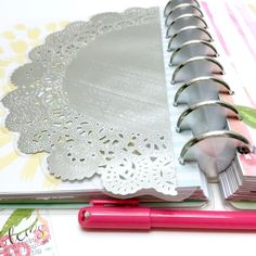 Doily Laminated Planner Dashboard / Note Insert: Doily by LaurenPhelpsDesigns on Etsy