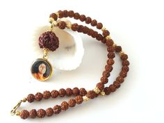 Rudraksha Necklace blessed and energized by by SacredBeadJewelry