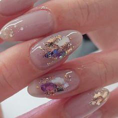 Bridal Nails, Wedding Nails, Acrylic Nail Designs, Nail Art Designs, Bunny Nails, Almond Acrylic Nails, Chic Nails, Japanese Nails, Pretty Nail Art