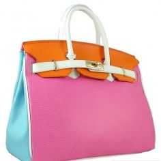Timeless Italian Multi Colour Leather Bag.  Available at djante.com.