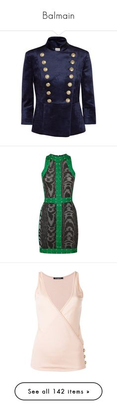 """""""Balmain"""" by designing-myworld ❤ liked on Polyvore featuring dresses, gowns, balmain, edit, long dress, summer gowns, brown evening gowns, summer dresses, summer evening dresses and long dresses"""