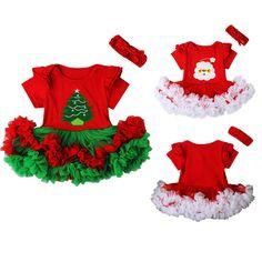 Onefa Christmas Newborn Baby Girl Boy Jumpsuit Clothes Palid Santa Letter Romper