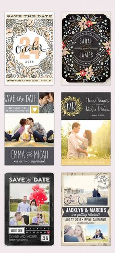 Gorgeous Save the Dates! #SaveTheDate