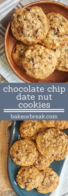 Chocolate Chip Date Nut Cookies are jam-packed with so much flavor! Plenty of crunch and a wonderful soft texture, too. - Bake or Break ~ http://www.bakeorbreak.com