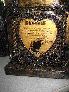 Handmade mixed media plaque