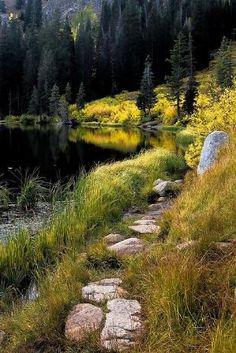O caminho para a Silver Lake, Big Cotonwood Canyon, Utah (por Tucapel) por MyohoDane