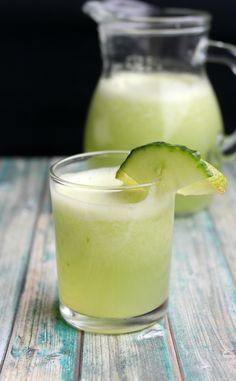 Photo of Agua Fresca de Pepino (Cucumber Limeade) by Yoly Refreshing Drinks, Yummy Drinks, Healthy Drinks, Yummy Food, Delicious Recipes, Diabetic Drinks, Mix Drinks, Healthy Eating, Healthy Juices