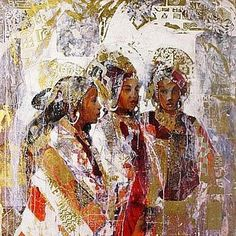 Sisters of the East by Mexican artist Marta Gottfried Wiley . Mexican Artists, Impressionist Art, Sculptures, Sisters, Statue, Painting, Animals, Animales, Animaux
