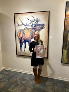 """Original Painting """"Elk Ridge"""" from Galerie Züger Vail in beautiful Vail, Colorado! Congrats to the new owners of this beautiful bull elk! Bull Elk, Visual And Performing Arts, Vail Colorado, Colorful Animals, Wildlife Art, Galleries, Fine Art Prints, Original Paintings, Art Gallery"""