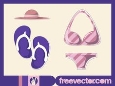 Beach Fashion Vector