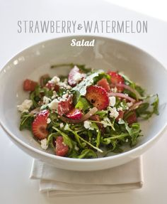 Are we serious about this situation right now?: Strawberries, Watermelon, Arugula and Feta?! Y'all done messed up now