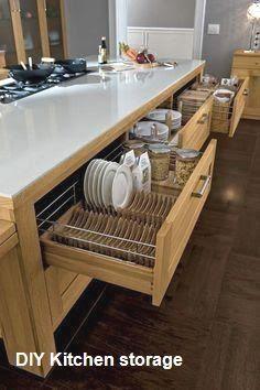 25 genius creative kitchen storage ideas ara home kitchen Kitchen Cabinets Decor, Kitchen Room Design, Cabinet Decor, Home Decor Kitchen, Kitchen Furniture, Kitchen Interior, New Kitchen, Home Interior Design, Home Kitchens