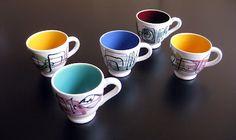 Hansi Staël - coffee cups - SECLA, 50's