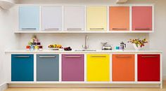 Resultado de imagem para armário cozinha adesivado