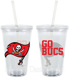 Tampa Bay Buccaneers Fan Inspired Personalized 16oz  Acrylic Tumbler