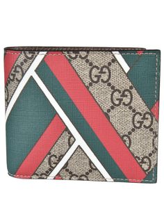Gucci Two Bifold Chevron Wallet € 237.71 Approx. $ 250.36$ 225.31 Description Two Bifold Chevron Wallet from Gucci: Multicolour Two Bifold Chevron Wallet with four card slots, one compartment with snap button fastening and chevron print
