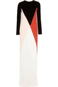 Stella McCartneycolor block velvet & crepe gown.