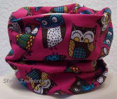 Mädchenloop Kinderloop Schlauchschal Loop lustige Eule Eulen Owls Uhu Handmade